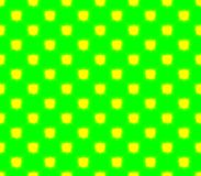 Abstract seamless green background yellow squares. Are laid out in rows and form a continuous pattern Stock Photography