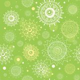 Abstract seamless green vector pattern Stock Photography