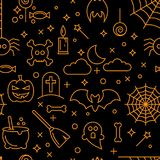 Abstract seamless Halloween wallpaper pattern as a background Stock Photography