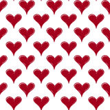 Valentines day seamless hand draw hearts pattern Stock Photography