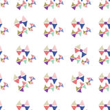 Abstract seamless hand draw pattern bow Stock Photos