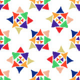 Abstract seamless hand draw pattern cross star Royalty Free Stock Photos