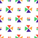 Abstract seamless hand draw pattern cross star Stock Image