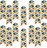 Abstract seamless hand draw pattern triangle Stock Photo