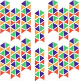 Abstract seamless hand draw pattern triangle Stock Image