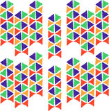 Abstract seamless hand draw pattern triangle Royalty Free Stock Photos