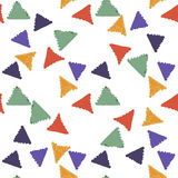 Abstract seamless hand draw pattern triangle Stock Photography
