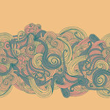 Abstract seamless hand-drawn border Royalty Free Stock Photography