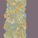Abstract seamless hand-drawn border Royalty Free Stock Images