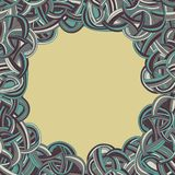 Abstract seamless hand-drawn frame Royalty Free Stock Images