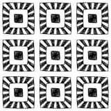 Abstract seamless hand drawn monochrome pattern. Stock Image