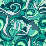 Abstract seamless hand-drawn pattern. Stock Images
