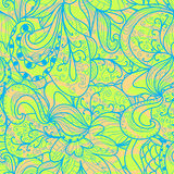 Abstract seamless hand-drawn pattern. Royalty Free Stock Images