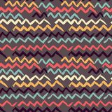 Abstract seamless hand drawn pattern. Modern grunge texture. Colorful pen-brush painted background. Texture with zigzag. Abstract seamless hand drawn pattern Stock Photo