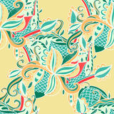 Abstract seamless hand-drawn pattern. Stock Image