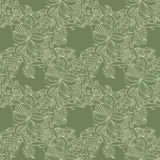 Abstract seamless hand-drawn pattern. Royalty Free Stock Photography