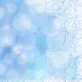 Abstract seamless hand-drawn pattern. Royalty Free Stock Image