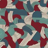 Abstract seamless hand-drawn pattern. Royalty Free Stock Photos