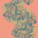 Abstract seamless hand-drawn wave pattern. Stock Images