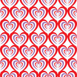 Abstract seamless heart pattern. Illustration background. Red and purple Stock Images