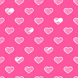 Abstract seamless hearts romantic background Stock Images