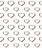 Abstract seamless hearts romantic background Stock Photos