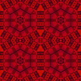 Abstract seamless hexagon pattern red black drawing Stock Photo