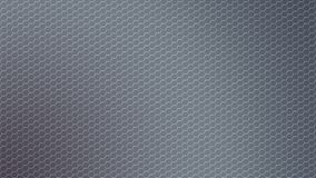 Abstract Shiny Hexagonal Metal Mesh in Grey Background. Abstract seamless hexagonal metal texture in dark grey background for website, banner, business card stock photo