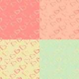 Abstract seamless ink heart pattern. Vector illustration.  Royalty Free Illustration
