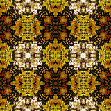 Abstract seamless kaleidoscopic pattern in autumn colors Stock Images