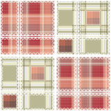 Abstract seamless lace checkered plaid pattern background Stock Image