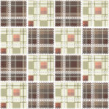 Abstract seamless lace checkered plaid textile design pattern ba Royalty Free Stock Photography