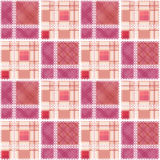 Abstract seamless lace checkered plaid textile design pattern ba Stock Photography