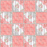 Abstract seamless lace floral pattern texture coral Royalty Free Stock Photography
