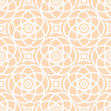 Abstract  seamless lace pattern. Duotone graphic beige and white ornament. Geometric arabesque floral ornament Stock Photos