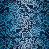 Abstract seamless lace pattern with flowers and bu Royalty Free Stock Photography