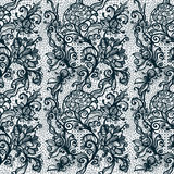 Abstract seamless lace pattern with flowers. Royalty Free Stock Photo