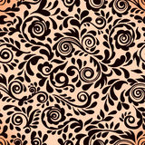 Abstract seamless lace pattern with flowers. Stock Photo