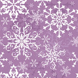 Abstract seamless lilas background. With snowflakes (vector royalty free illustration