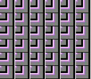 Abstract seamless lines and squares and cubes. Are laid in rows to form a continuous pattern royalty free illustration