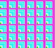 Abstract seamless lines and squares and cubes. Are laid in rows to form a continuous pattern stock illustration