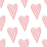 Abstract seamless love heart pattern for Valentine's Day. Cute holiday background. Pink hearts illustration for Valentine's Day Vector Illustration