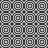 Abstract seamless modern background in black and white style. Stock Photo