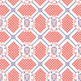 Abstract seamless modern pattern. Graphic seamless ornament in knitting style stock illustration
