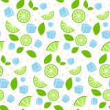 Abstract seamless mojito pattern Royalty Free Stock Image