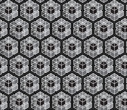 Abstract seamless monochrome polygons patterns background; Repeating texture tile vector design Stock Photography