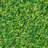 Abstract seamless mosaic background. Green color. Triangle geometric background. Vector illustration Stock Image