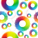 Abstract seamless with mosaic circles. Vector rainbow abstract seamless pattern with mosaic circles vector illustration