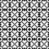 Abstract seamless mosaic op black & white pattern. Seamless geometric op ornament  background Stock Image