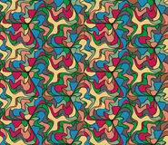 Abstract seamless multicolored painted by pattern  Royalty Free Stock Photography